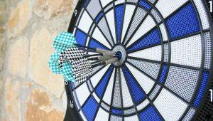 darts hitting target